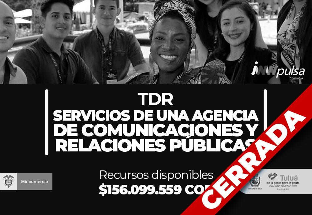 TDR – Servicios de una agencia de comunicaciones y relaciones públicas