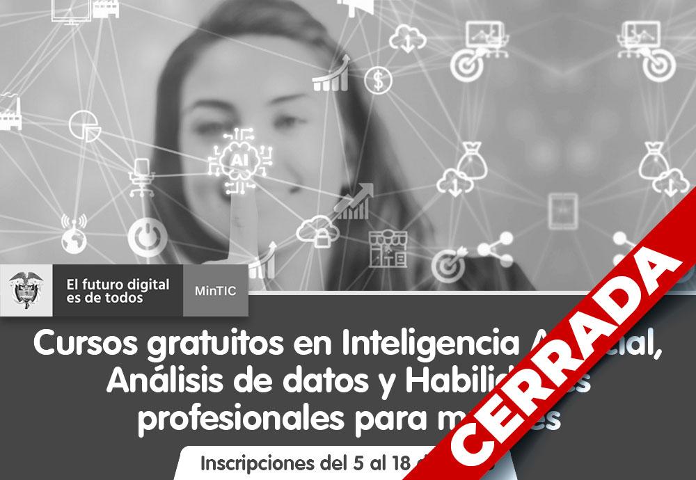Cursos gratuitos en Inteligencia Artificial Para Mujeres