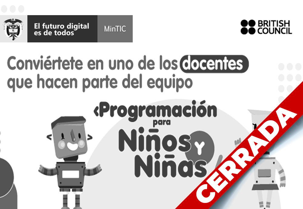Programación para Niños y Niñas 2021 – Segunda Convocatoria