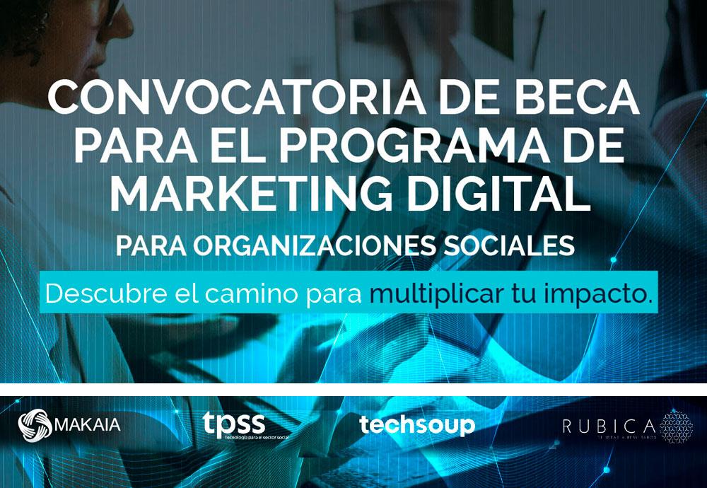 Convocatoria de BECA para el programa de Marketing Digital